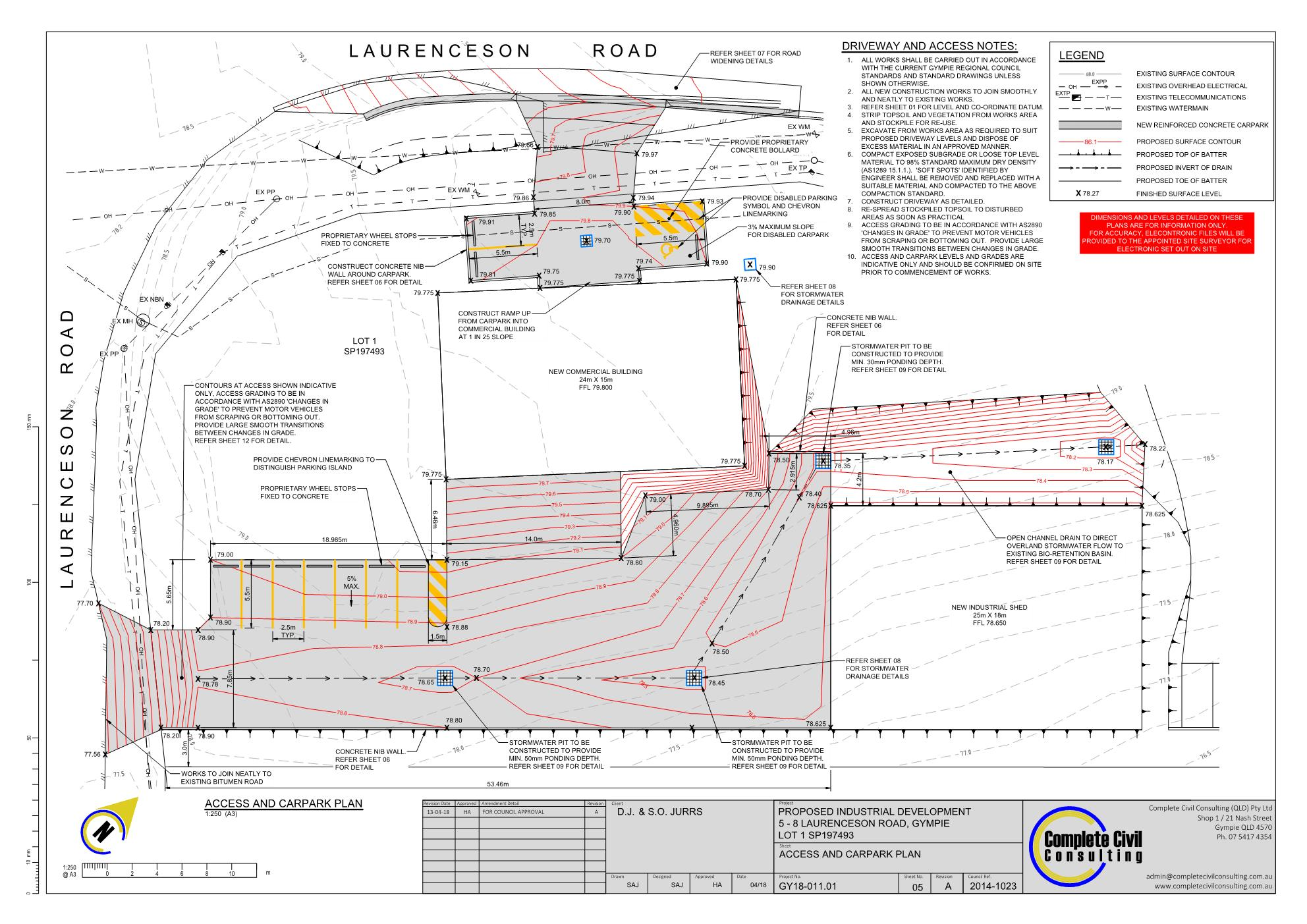 Industrial Development, Glanmire, Gympie Civil Design Civil engineering design
